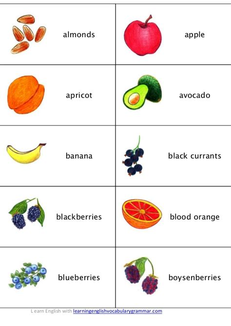 d vegetables name fruit vegetables berries and vocabulary