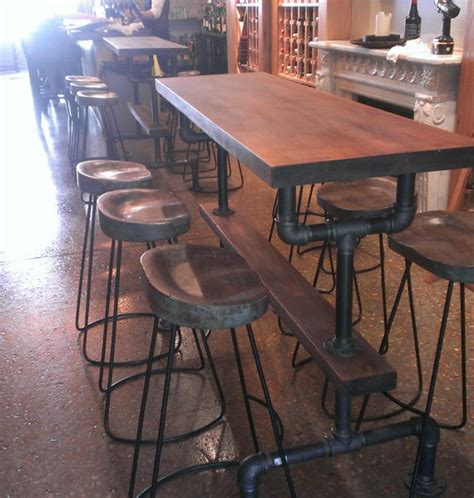 Bar Height Tables For Kitchens Industrial Farmhouse Bar Height Kitchen Table The Industrial Farmhouse