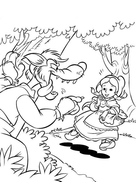 caperucita roja dibujos animados en dibujos de caperucita roja para colorear e imprimir