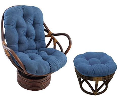 Papasan All Natural Rattan Swivel Rocker And Ottoman With Papasan Swivel Rocker Chair