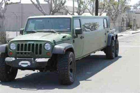 Jeep Wrangler Limo Jeep Wrangler 2012 This Is A Tandem Axle Limousine With A