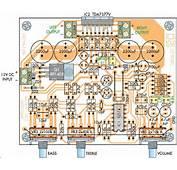 PCB Rangkaian Amplifier Stereo 20 Watt 12 Volt