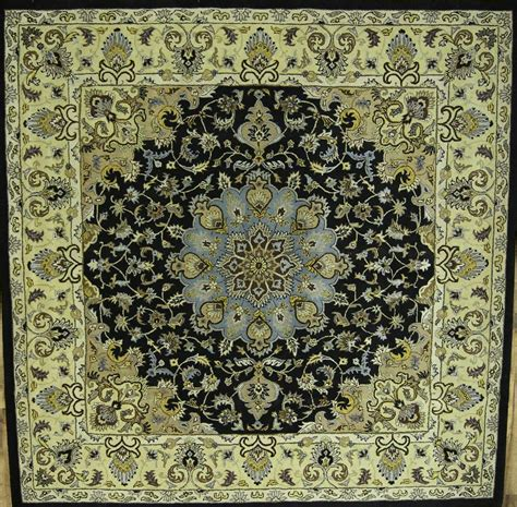 Large Square Area Rugs Large Square Handmade Floral Black 12x12 Oushak Area Rug Wool Carpet Ebay