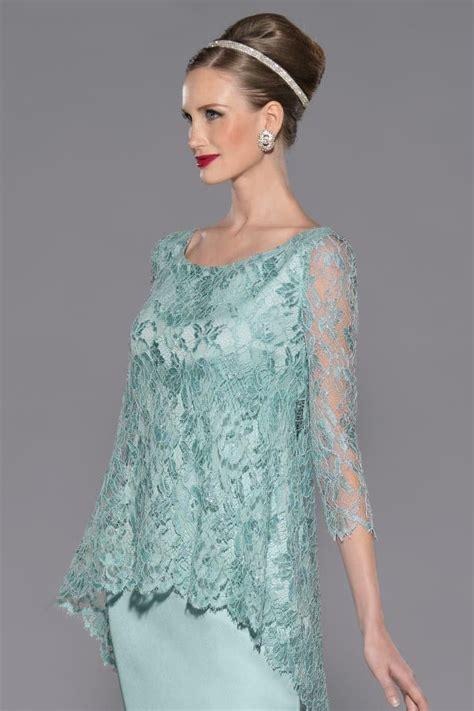 vestidos de madrina vestido de madrina corto de chantilly azul modelo 3422 by