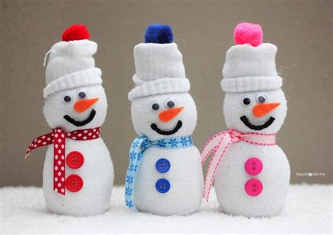 sock bean snowman sock snowmen repeat crafter me