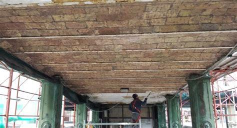 intonaco soffitto rimozione intonaco soffitto a mattoncini