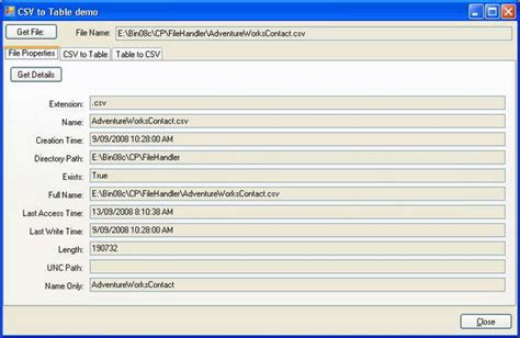 csv format as table csv to table to csv codeproject