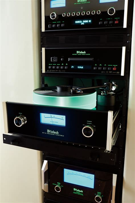 mcintosh stack  housed    special rack