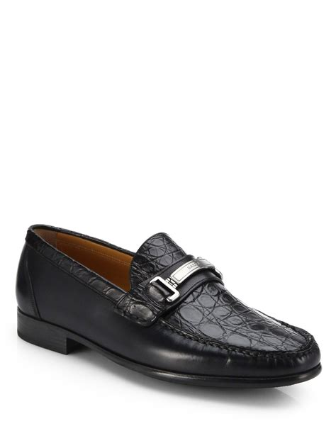 Sepatu Bally Mocasin Denim 02 lyst bally croc leather mocassins in black for