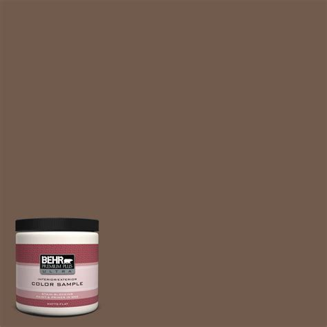 behr premium plus ultra 8 oz n170 7 baronial brown interior exterior paint sle ul20316