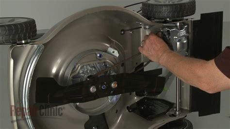 honda lawn mower drive belt replacement  vl p