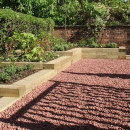 Railway Sleepers Leeds by Decorative Dalesway Paving