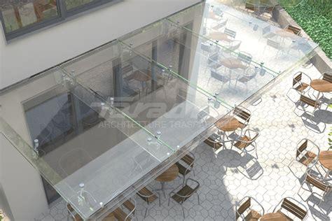 tettoie in alluminio e vetro pensiline in acciaio e vetro