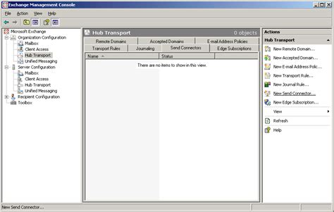 exchange management console tls between exchange on premise and useit fax