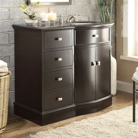 40 Inch Bathroom Vanity 40 Inch Bathroom Vanity To The Floor Sink On The Right Espresso Color 40 Quot Wx22 Quot Dx37h C80830