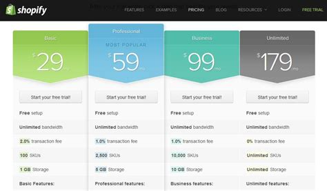 the best pricing table design inspirations youzign