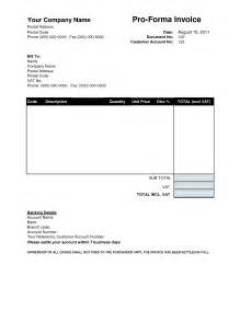 Template Of Proforma Invoice by How Proforma Invoice Template Looks Like Blankinvoice Org