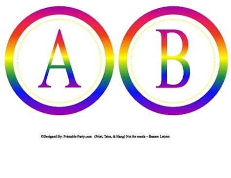 printable rainbow letters 5 inch small circle printable alphabet letters a z