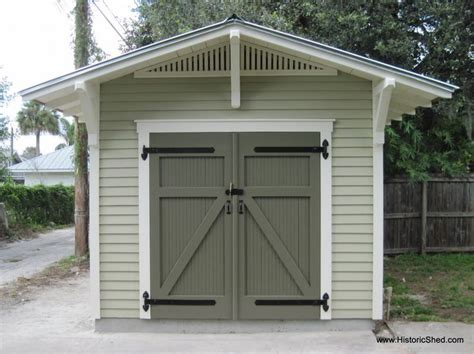 Yellow Shed Paint by Bungalow Storage Shed Designed To Complement A Historic