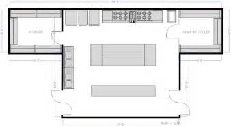 kitchen design plans template restaurant kitchen central island floor plan detalles