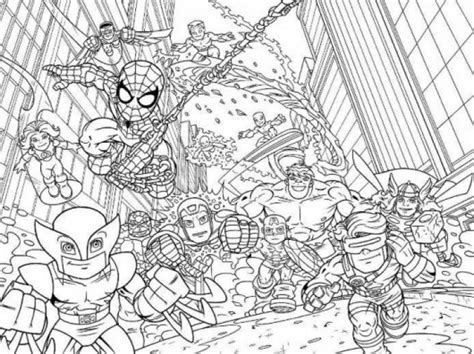 halloween coloring pages avengers super hero squad marvel coloring page printable for kids