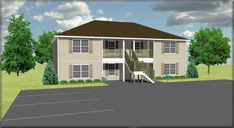 cost to build a 4 plex apartment plan j778 4 plansource inc