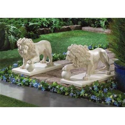 Porch Statues pair of guardian statue for front door garden lawn yard porch decor new ebay