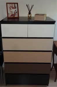 repeindre meuble ikea malm table de lit a roulettes