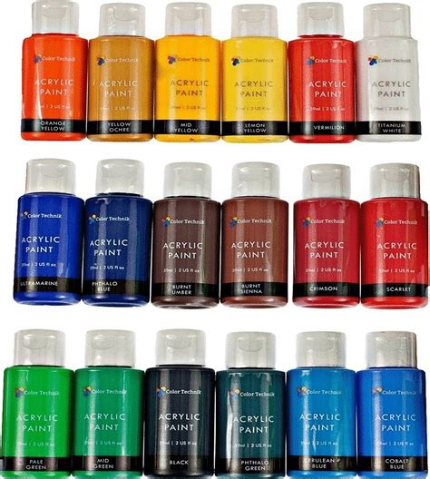 paint colors acrylic acrylic paint set by color technik artist quality large