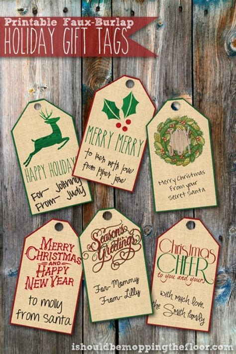 i should be mopping the floor free printable ultimate 11 printable holiday gift tags refresh restyle
