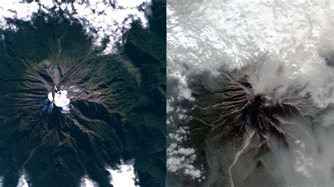 imágenes satelitales obtenidos de goes 13 foto el antes y despu 233 s del volc 225 n calbuco desde vista