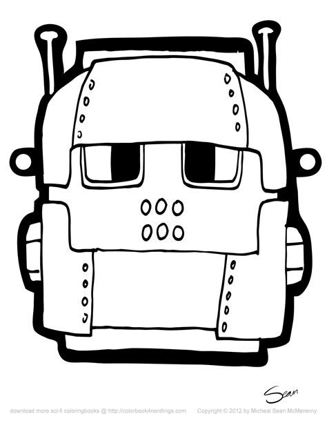 Printable Robot Mask | 8 free robot halloween masks colorbook 4 nerdlings