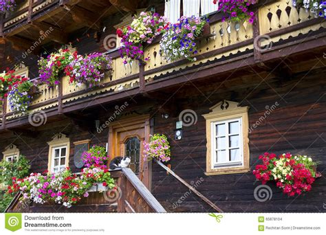17 small traditional house design in tirol austria traditional alpine house stock photo image of blooming