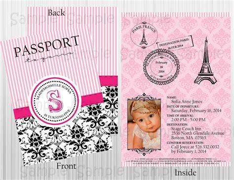 custom passport printable invitation birthday baby