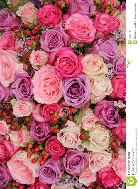 imagenes de rosas multicolores flores en colores pastel de la boda imagen de archivo