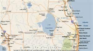 where is okeechobee florida on the map map of okeechobee