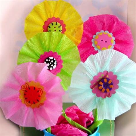 Paper Flowers For Children - make paper paper flowers and tinkerbell on