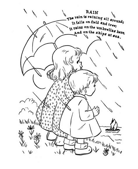 coloring page nursery rhymes nursery rhyme coloring page rain coloring books and