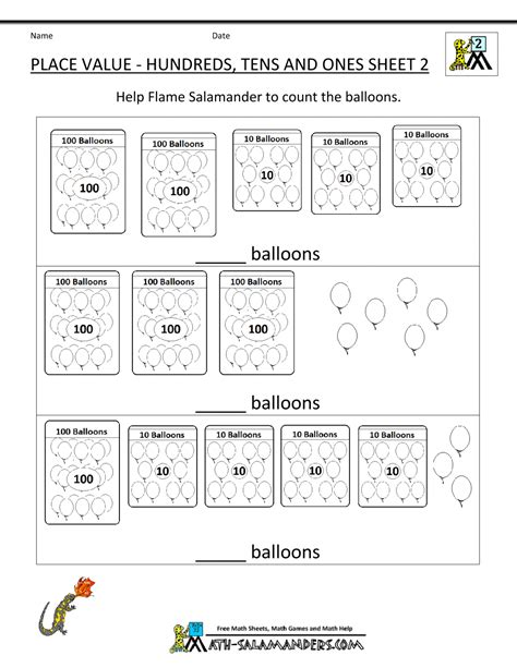 free printable lesson plans place value 2nd grade place value worksheets lesupercoin printables