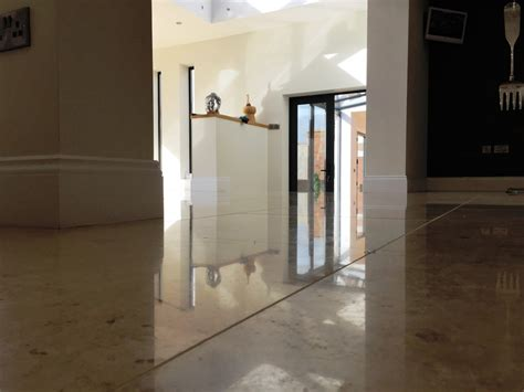 polishing and sealing marble floors after installation