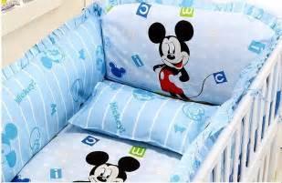 discount 5pcs mickey mouse boy baby cot crib bedding set