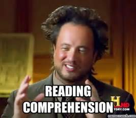 Reading Meme - reading comprehension