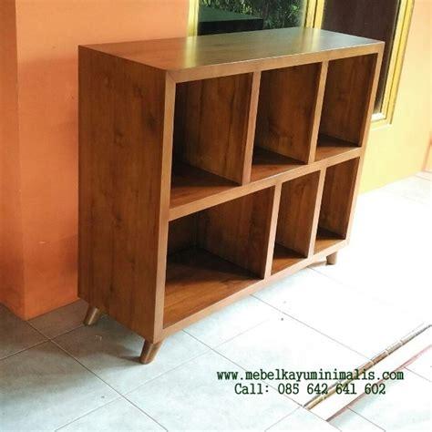 Rak Tv Pendek rak buku pendek minimalis kayu jati mebel kayu minimalis