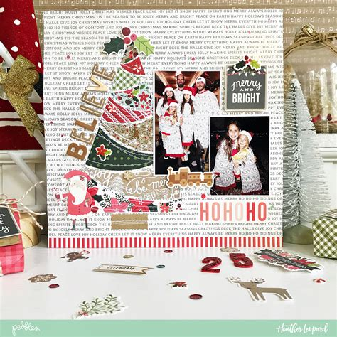 document  christmas traditions   scrapbooking layout idea   cut file