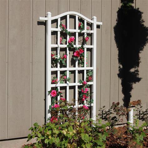 Shop Garden Trellis Shop Dura Trel 35 In W X 75 In H White Transitional Garden
