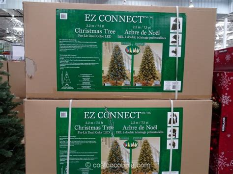 ez connect 7 5 ft pre lit led christmas tree