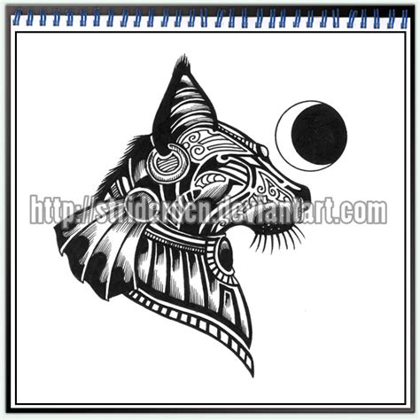 bastet tattoo designs bastet on anubis cat