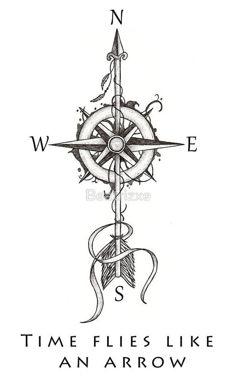 compass tattoo types time flies like an arrow by beatrizxe dogs pinterest