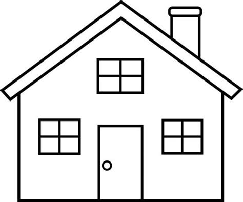 House From Up Outline by Any Simple Drawing Is For Coloring Dictation Outline Of A House For Dictation To Children