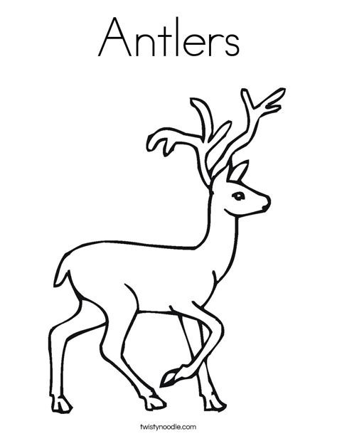 coloring pages of deer antlers antlers coloring page twisty noodle